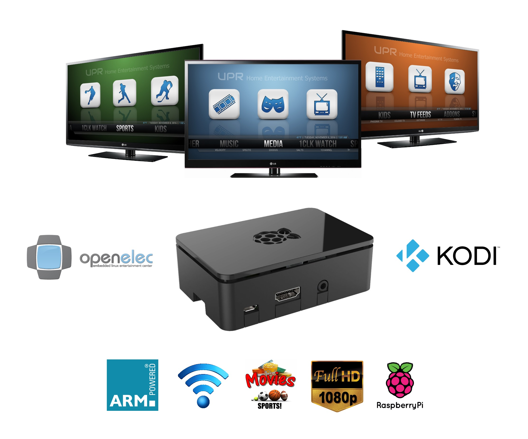 UPR Streaming TV Box